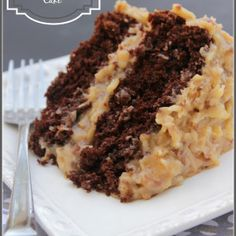 Really the Best Ever German Chocolate Cake a moist chocolate cake and traditional coconut pecan frosting, layer upon layer of goodness. Cupcake Recipes, Cupcake Cakes, Dessert Recipes, Cake Cookies, Just Desserts, Delicious Desserts, Dessert Healthy, Coconut Pecan Frosting, Think Food