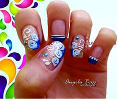 uñas flores/ flowers nails