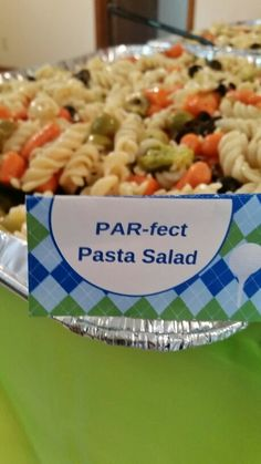 Golf theme party PAR-fect pasta salad