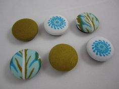 Sale! Turquoise and Mustard Cowgirl Paisley Cover Button Magnets by adrisadorables, $2.50