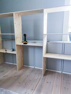 Home Office Design, House Design, Cabin Floor Plans, Compact Living, Diy Interior, Built In Storage, Built Ins, Game Room, Interior Inspiration