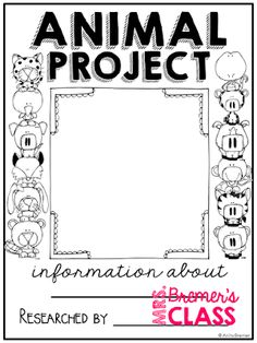 Animal Research Projects {for ANY animal} 2nd Grade Activities, Science Activities, Science Projects, Classroom Activities, First Grade, Second Grade, 2nd Grade Classroom, Animal Habitats, Charts For Kids