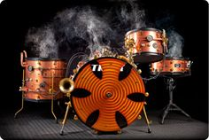 Steampunked drums--Custom Shop