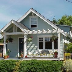 Classic Home Design: Tropical Porch Off The Sunroom Door Or Pergola Front And Side Entry Porch Darlin Outside Entrance Low Country, Classic Front Porch Design, Tropical Porch Porch With Pergola, Veranda Pergola, Patio Pergola, House With Porch, Cheap Pergola, Modern Pergola, Front Yard Patio, Black Pergola, Porch Roof