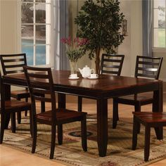 Adaptable Dining Rectangle Leg Table by Holland House