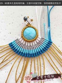 Find out our new handmade macrame earrings collection. Macrame Earrings Tutorial, Macrame Necklace, Macrame Jewelry, Diy Necklace, Stone Necklace, Pendant Necklace, Macrame Knots, Micro Macrame, Magic Knot