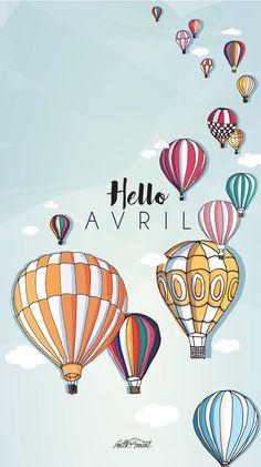 Hello April Balloon Lock Screen Wallpaper @PanPins