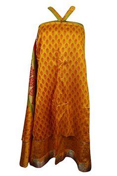 Mogul Womens Vintage Yellow Skirt Reversible Beach Dress ... https://www.amazon.com/dp/B0722DY8M8/ref=cm_sw_r_pi_dp_x_CjCzzbA5ZXZ34