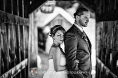 Winter wedding, covered bridge, Old Mill, Westminster, MA :: © Audrey Cutler Photography, Massachusetts Photographers