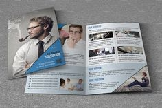 Printable Business Brochure Template, Corporate Brochure template, Editable Photoshop Template. #business #brochure #corporate #bifold #psd #photoshop