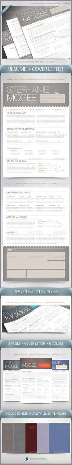 Clean Interior Designer Resume