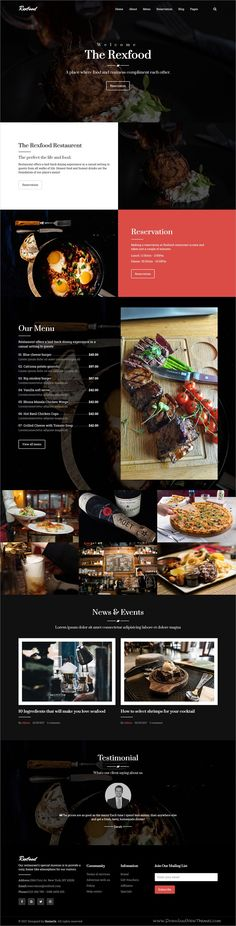 Rexfood is clean and modern design 3in1 #bootstrap template for #restaurant #cafe and #food business website download now..