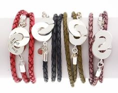 Personalized leather wrap bracelet. A great idea for gifts!
