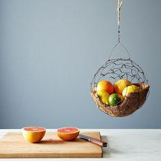 Spherical Hanging Basket on Food52: http://food52.com/provisions/products/790-spherical-hanging-basket #Food52