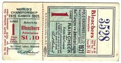 Designspiration — a time to get: Vintage Baseball Tickets