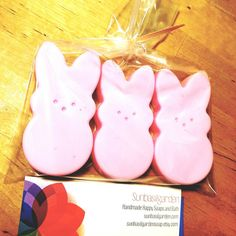 Easter Bunny Soaps by SunbasilgardenSoap #bunnies #Easter #bunny #soap #sunbasilgarden #etsy