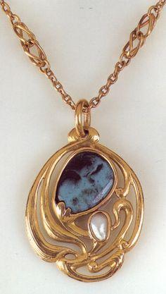 Art Nouveau jewellery. Edward Colonna (American, 1862-1948)   JV