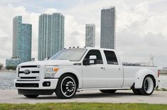 """LOWERED 8 LUG CUSTOMS - Ford Dually on 24"""" FUSION American Force Wheels"""