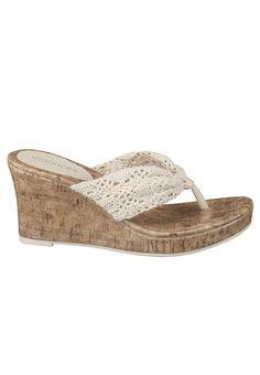 Jillian Crochet Wedge Sandal - maurices.com