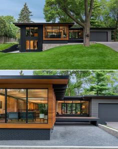 Black House Exterior, Modern Exterior, Interior Modern, Exterior Design, Exterior Colors, Home Exterior Makeover, Exterior Remodel, Mid Century Exterior, Brick And Wood