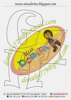Miss Dorita: Abecedarios Abc Letra, Alphabet Templates, Letter Stencils, Lettering Design, Pikachu, Fonts, Paper Crafts, Baby Shower, Writing