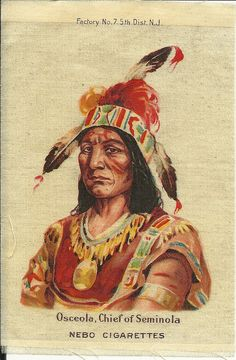 Osceola Chief of Seminola Cigarette Silk from NEBO by kkscloset, $14.75