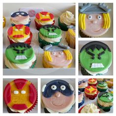 Avengers cupcakes **handmade toppers**