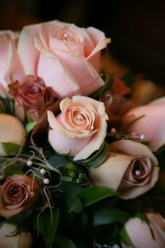 This is a close up of my own wedding flowers - the theme was vintage and colours were dusky pinks & mushrooms with pearls. I love these colours for our website and business identity.