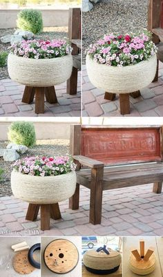 All things home: 47 DIY Home Decor on A Budget Apartment Ideas. All things home: 47 DIY Home Decor on A Budget Apartment Ideas. … All things home: 47 DIY Home Decor on A Budget Apartment Ideas. Outdoor Projects, Garden Projects, Outdoor Decor, House Projects, Backyard Projects, Wood Projects, Tire Craft, Tire Furniture, Recycled Furniture