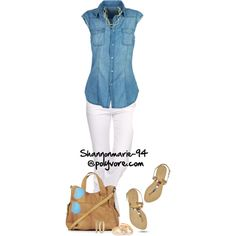 """""""Casual Chambray"""" by shannonmarie-94 on Polyvore"""