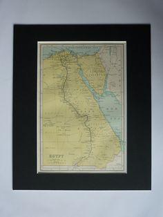 Antique Egypt Map  Egyptian Art  Antique Map Of by PrimrosePrints