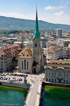 Fraumunster Cathedral, Zurich, Switzerland near by Messerer Juwelier Switzerland Bern, Switzerland Vacation, Zurich, Places To Travel, Places To See, Travel Around The World, Around The Worlds, Berne, Holiday Travel