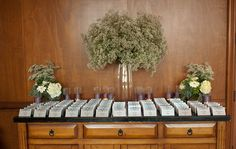 Gorgeous use of baby's breath for the escort card table at this JW Marriott Starr Pass Resort & Spa wedding. #nordstromweddings