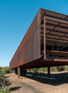 St Andrews Beach House, Victoria, Australia by Sean Godsell Architects Detail Architecture, Minimal Architecture, Residential Architecture, Amazing Architecture, Contemporary Architecture, Interior Architecture, Flying Architecture, St Andrews, Metal Facade