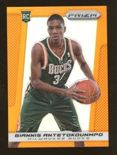400e8499b2a 2013-14 Panini Prizm Orange  290 Giannis Antetokounpo Bucks RC Rookie 53 60