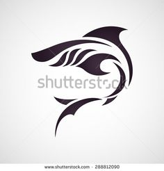 Shark logo vector - stock vector