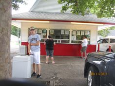 """The Sycamore - We were regular customers at this frozen custard stand in Logansport, Indiana, for 4 years.  Natalie was a """"Sycamore Girl."""""""