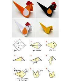 40 Cute DIY Paper Crafts for Kids to Preserve as Keepsakes 2019 Step by step easy paper origami bird kids craft idea The post 40 Cute DIY Paper Crafts for Kids to Preserve as Keepsakes 2019 appeared first on Paper ideas. Origami Star Box, Origami And Kirigami, Origami Ball, Origami Fish, Origami Paper, Origami Folding, Paper Folding, Oragami, Arts And Crafts