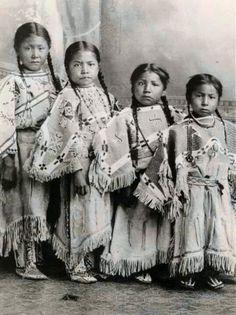 Lakota girls. George Littlechild, artist.