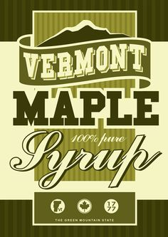 vermont maple syrup label