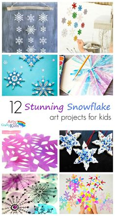 Arty Crafty Kids | Art | 12 Stunning Arty Crafty Snowflakes