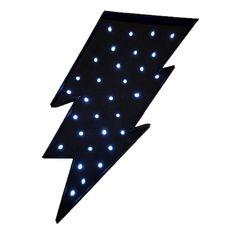 Rayo-luminoso-led-negro-minimoi Symbols, Letters, Led, Cards, Lightning Bolt, Kids Rooms, Bulbs, Accessories, Letter