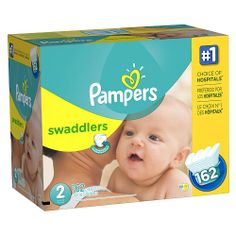 """Pampers Swaddlers Diapers - Size 2 Super Economy Pack - 162 Ct - Procter & Gamble - Babies """"R"""" Us"""