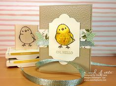 Video: Here's a card that features the new Honeycomb Embellishments and the coordinating Sale-A-Bration exclusive stamp set, Honeycomb Happiness! In this video, you'll learn how to dye the Honeycomb Embellishments as well as a tip for how to mail cards with these 3D embellishments. - A Work of Carte