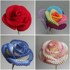 Pretty Roses – Crochet ART Who can be recipient of so gorgeous gift? Somebody special as special is this project. It's enough to compare with many many different crochet roses. It's hard to believe how it is easy #free #crochet #patterns #rose #flower