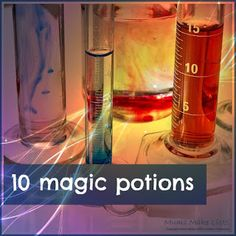 10 magic potions thats kids from preschool through kindergarten and beyond can create in fun science experiments at home ... perfect for homeschooling
