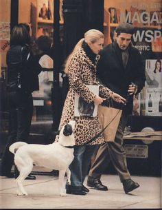 Carolyn Bessette walking her dog Friday