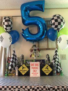 New Dirt Bike Birthday Monster Trucks 66 Ideas Motocross Birthday Party, Bike Birthday Parties, Dirt Bike Birthday, Motorcycle Birthday, Monster Truck Birthday, Birthday Fun, Birthday Party Decorations, Birthday Ideas, Monster Trucks