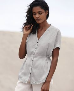 Poetry - Broderie anglaise linen shirt