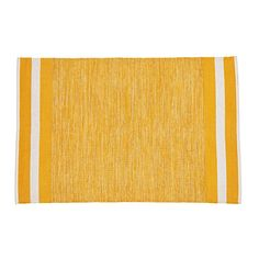 Shop Defined Lines Rug (Yellow).  The dictionary defines a line as an area that separates two places.  We define this woven cotton rug as something you should add to any room of your home.